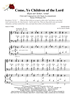 Come Ye Children of the Lord - Choir & Congregation w/organ acc - LM4012/4DOWNLOAD