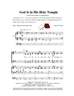 GOD IS IN HIS HOLY TEMPLE/SATB w/organ acc - LM1097DOWNLOAD