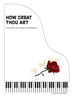 HOW GREAT THOU ART - Violin Duet w/piano acc - LM3035