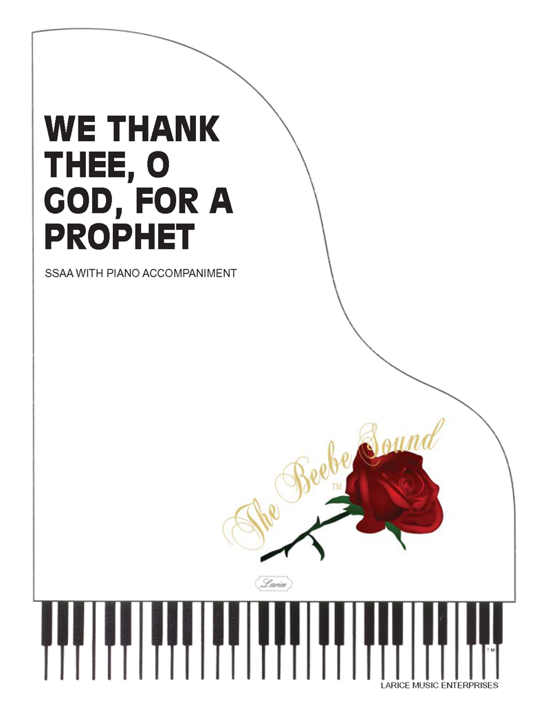 We Thank Thee O God For A Prophet Ssaa Wpiano Acc Lm1112