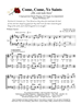 Come Come Ye Saints - Group Hymn Singing - LM4002/4DOWNLOAD