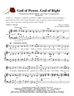 God of Power God of Right - Group Hymn Singing w/organ acc - LM4008/3DOWNLOAD