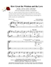 HOW GREAT THE WISDOM AND THE LOVE/SATB w/piano acc - LM1025DOWNLOAD