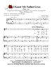 I Know My Father Lives - Group Hymn Singing w/piano acc [clone] - LM4009/5DOWNLOAD
