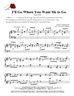 I'll Go Where You Want Me to Go/Piano Solo - LM3034/8DOWNLOAD