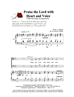 PRAISE THE LORD WITH HEART & VOICE/TTBB w/organ acc - LM1030DOWNLOAD